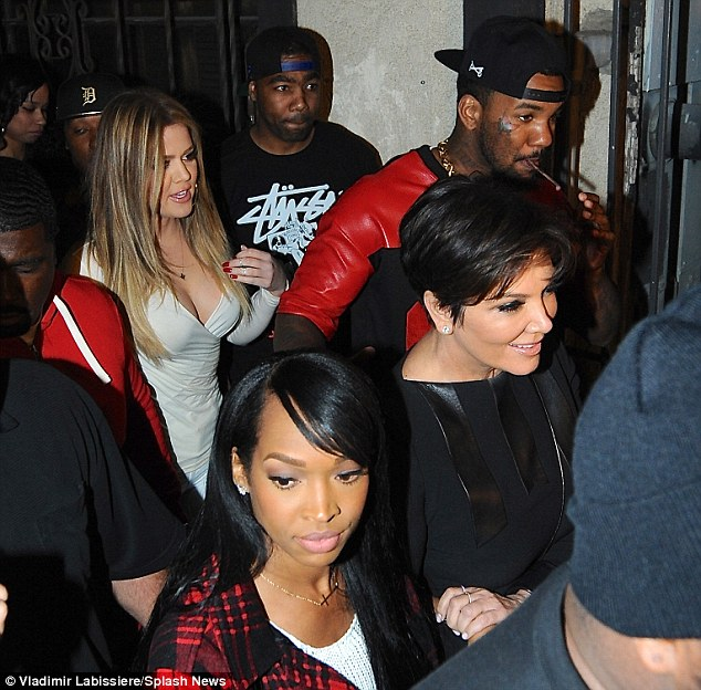Partying hard: Kris Jenner, 58, joined her daughter along with the rapper and Makika Haqq