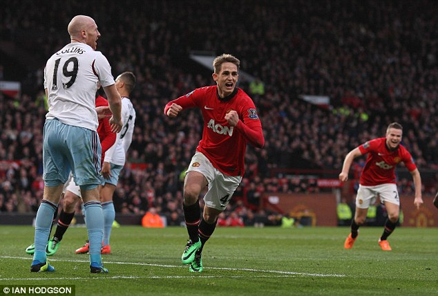 Hot prospect: Januzaj broke into the Manchester United team as a winger this season - despite only being 18