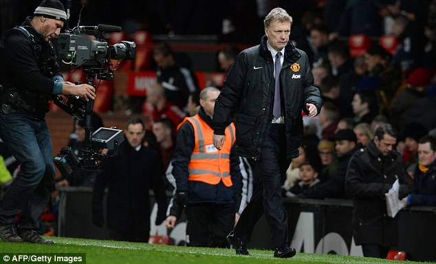 Tying himself up in knots: David Moyes will be wrestling with United's poor form under his stewardship