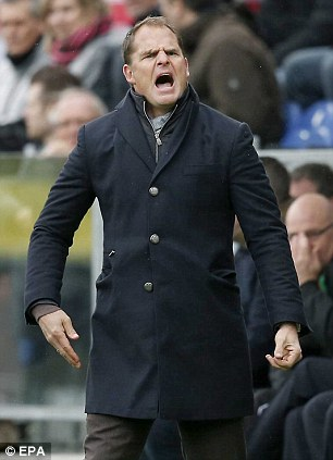 Touted: Ajax boss Frank de Boer claims he was approached for the Tottenham job