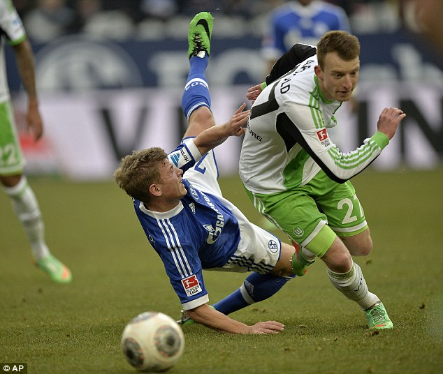 Prospect: Arnold, who has six goals in the Bundesliga this season, is believed to have a buy-out clause of £8m