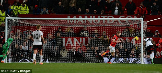 Faltering: United concede another late goal as their inconsistent season takes yet another hit