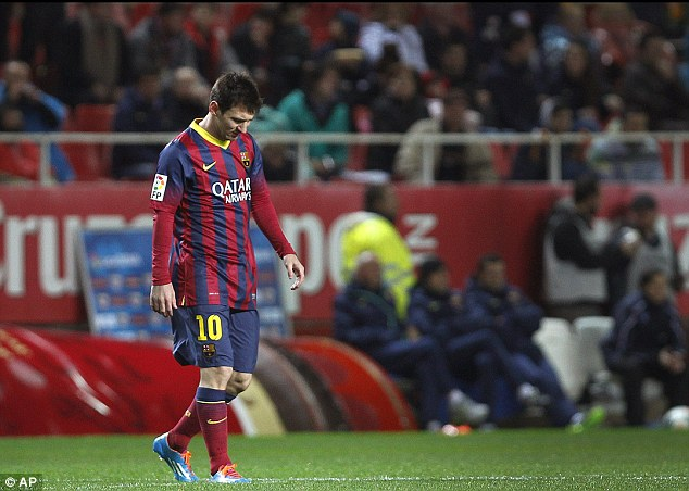 Not all smooth sailing: Injuries have stopped Messi from performing to the peak of his ability this season