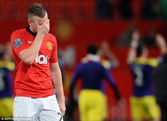 Under attack: Cleverley has been held accountable by many quarter's for United's poor performances