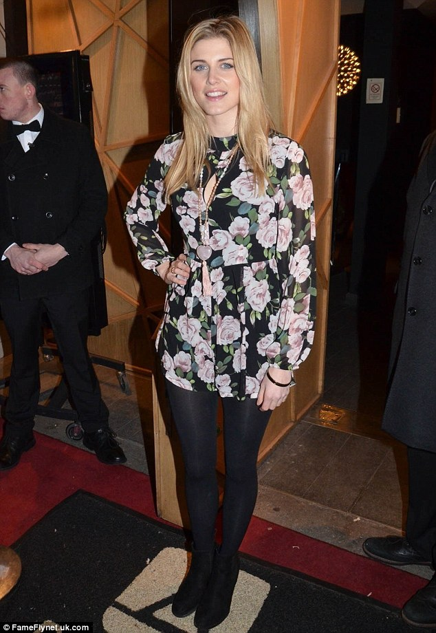 Fabulous in florals: Ashley James looked pretty in her flowery jumpsuit