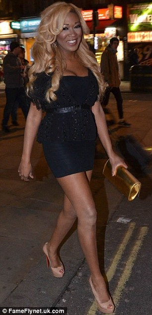 All dressed up: Celebrities looked glam for the after party at DSTRKT in London