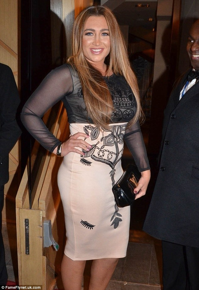 We can see you: Lauren's underwear was apparent through her dress which featured sheer see through sleeves