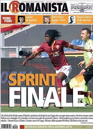 Italian newspaper Il Romanista