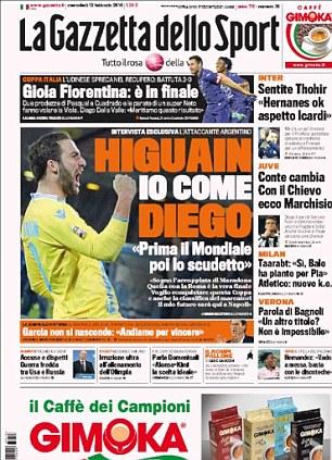 Italian newspaper Gazzetta dello Sport
