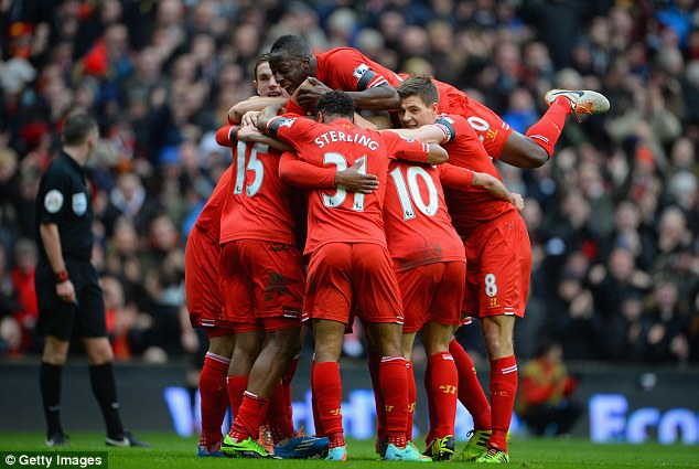 The competition: Liverpool currently sit in fourth position in the Barclays Premier League