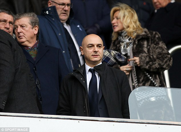 Poker face: Daniel Levy is coy on whether Sherwood will remain in charge at White Hart Lane