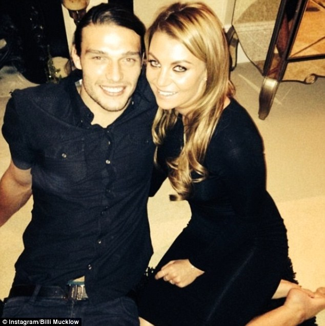 Another WAG: Former TOWIE star Mucklow has been dating Carroll since February