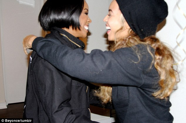 'Sisters': Beyonce shared a warm hug with her BFF Kelly Rowlands at the latter's recent birthday dinner