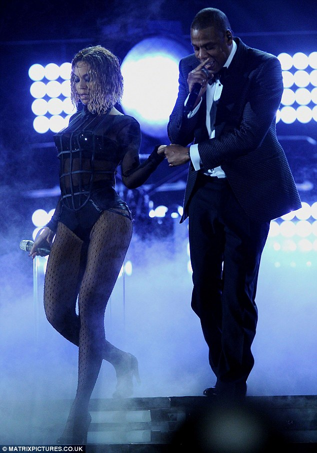 Drunk In Love: The married duo performed a steamy rendition of Drunk In Love at The Grammys on January 26 in Los Angeles