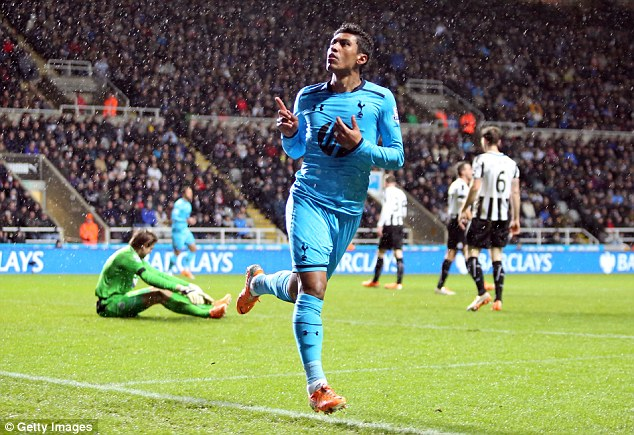 Boy from Brazil: Paulinho reacts fastest to double Tottenham's lead in the second half