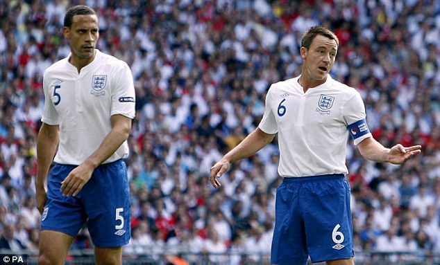 No way back: Rio Ferdinand (left) and John Terry will not be considered for the World Cup squad