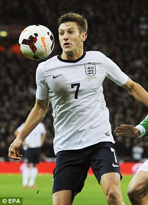 In with a chance: Adam Lallana could go to the World Cup
