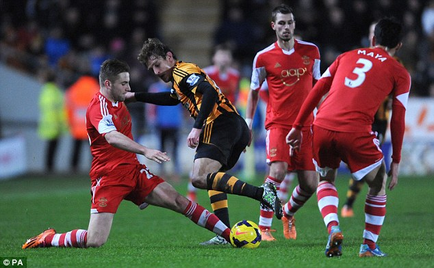 Outstanding: Shaw (left) has been superb for Southampton this season