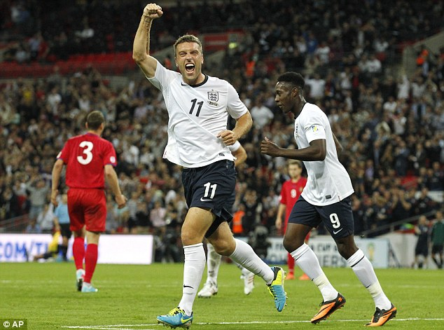 Saints the big winners: Shaw's Southampton team-mates Rickie Lambert, Adam Lallana (below left) and Jay Rodriguez (below right) have all made their England debuts this season