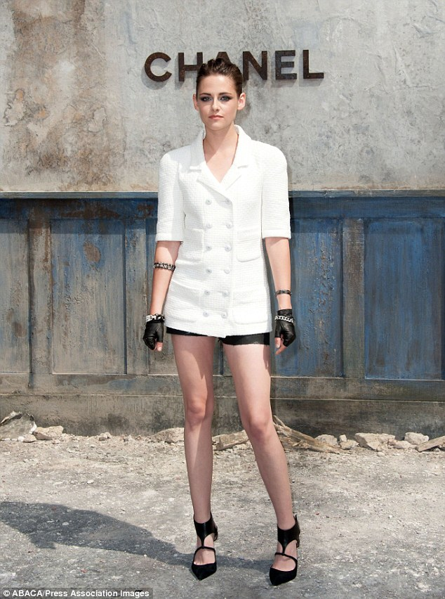 Slim: Kristen was recently named as the new face of Chanel