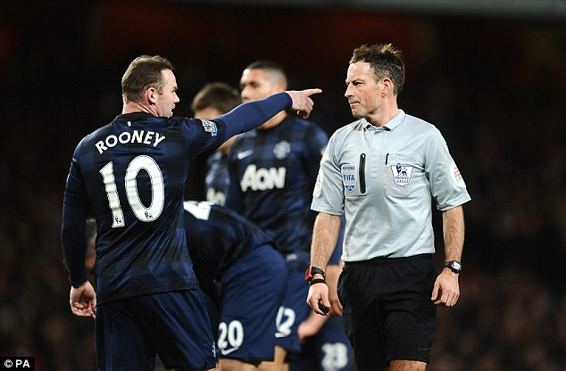 Inconsistent: Rooney's form has been hit and miss this season, and he performed much the same at Arsenal