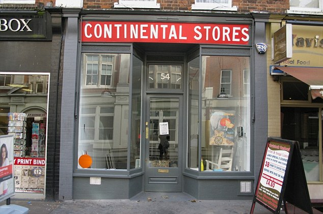 Mr Pettet, 19, said he will have sex for the first time at the Orange Dot gallery in Bloomsbury (pictured) for a project entitled 'Art School Stole My Virginity'