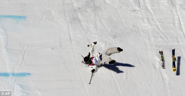 Ski spirit: Harlaut said he was has skied like that for 10 years and has no plans to change any time soon