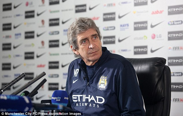 Bitten: Manchester City boss Manuel Pellegrini has been slightly rattled by comments made by Jose Mourinho in recent weeks