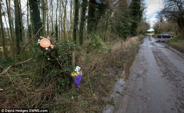 The scene in Calne, Wiltshire, where the market gardener was killed as he attempted to clear a fallen tree