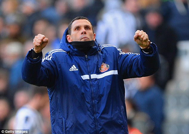 Up for the cup: Gus Poyet's Mackems will be fresh after their clash at Manchester City was postponed