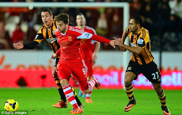 Early start: Jay Rodriguez (centre) will aim to help Southampton triumph at the Stadium of Light