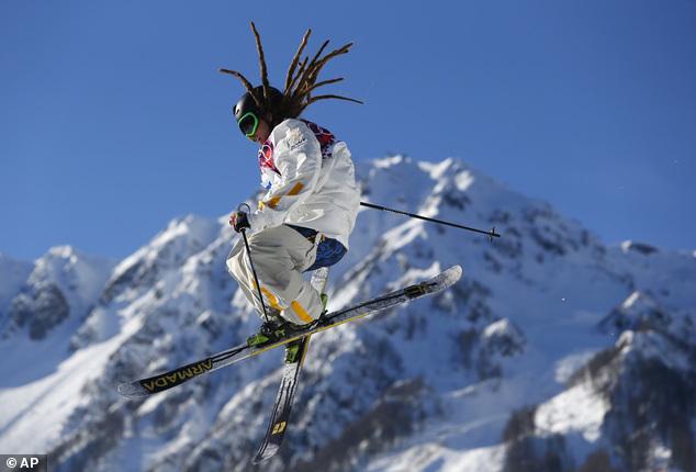 Sweden's Henrik Harlaut competes in during the men's ski slopestyle qualifying at the Rosa Khutor Extreme Park