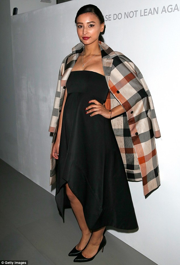 Here she comes: Leah has previously acted as a model for DAKS