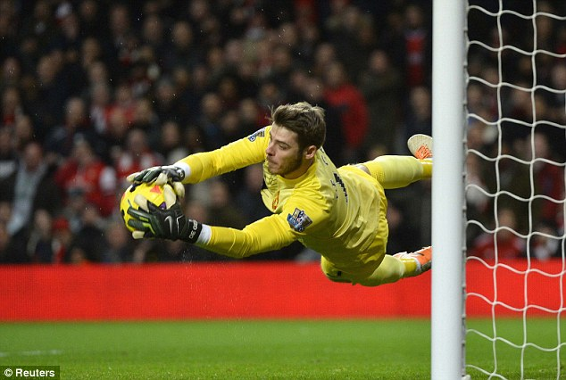 Shot stopper: David de Gea has been in sparkling form for most of this season