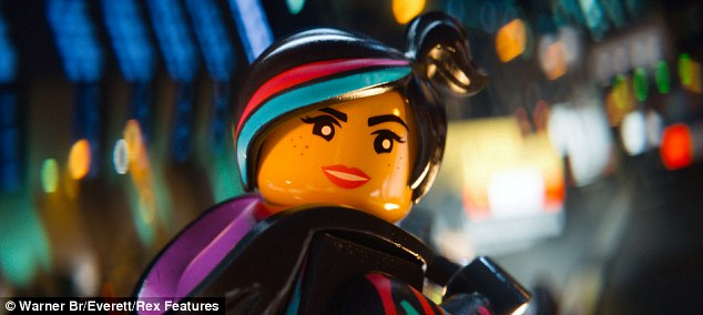 Getting in character: Elizabeth lends her voice to the character Wyldstyle in The LEGO Movie