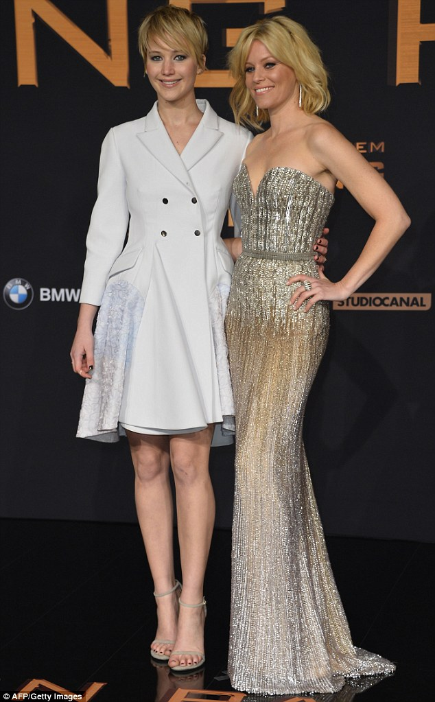 Dynamic duo: Elizabeth and Jennifer Lawrence pictured together at the German premier of The Hunger Games: Catching Fire last November