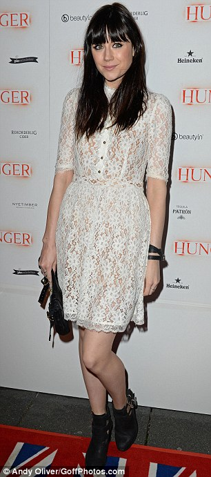 Icy: Presenter Lilah Parsons looked pretty in a white lace dress, while A*M*E opted for a bodycon style