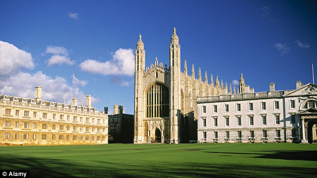 Brains: Slide challenges some of the brightest students in the world at Cambridge University. Pictured: Kings College and Chapel, one of the most iconic buildings that forms part of the historic instutition