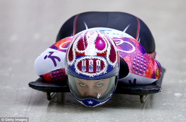 Rival: Noelle Pikus-Pace ended up with a silver medal, finishing just 0.19s behind her