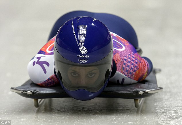 Out of contention: Shelley Rudman, who won silver in Turin 2006, was way down the field