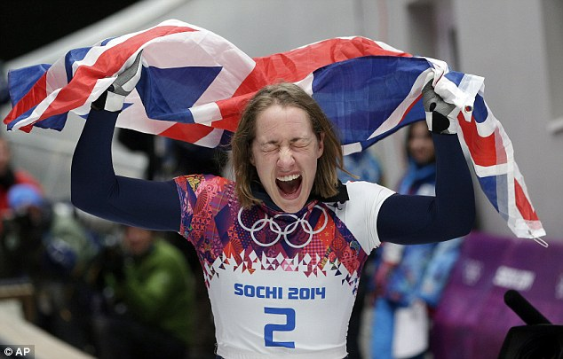 Gold! Elizabeth Yarnold won Britain's first gold of the Winter Olympics with a brilliant performance in the Skeleton