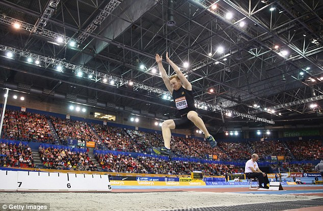Champion: Olympic long jump gold medalist Greg Rutherford wants to become a Winter Olympian