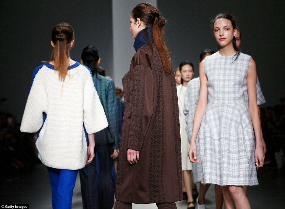 Sculpted: Clever tailoring has made newcomer J. JS Lee one to watch, with fans including veteran fashion editor Hilary Alexander, formerly of the Telegraph