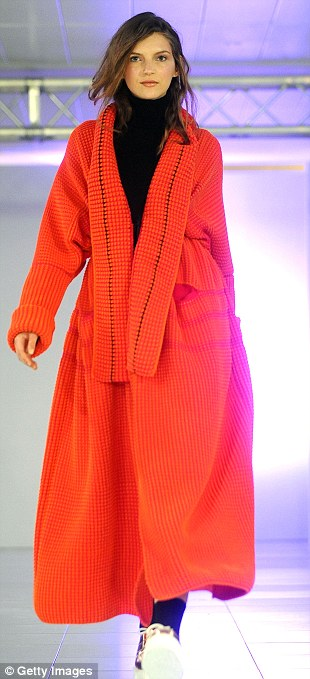 The future's bright for AW14 as far as Mark Fast is concerned, with cobalt blue, neon pink and bright orange dominating the catwalk