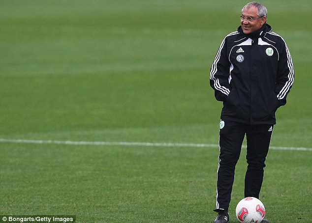 Panic stations: Felix Magath has been appointed as first team manager at Fulham
