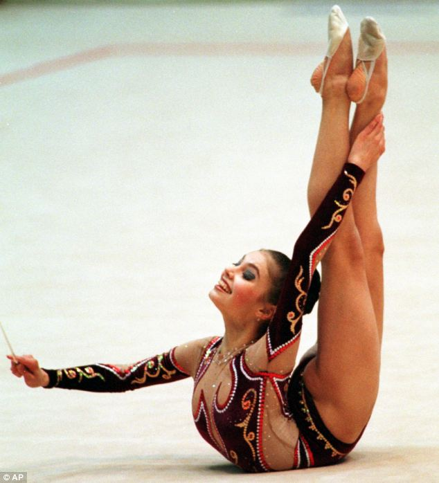 Putins aides have repeatedly denied he is involved in a relationship with the gold medal-winning gymnast, 30, pictured. Claims that the pair have children together have also been dismissed