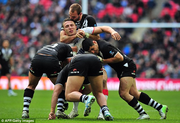 Role change: Burgess is a forward in league but has been identified as a inside centre for union