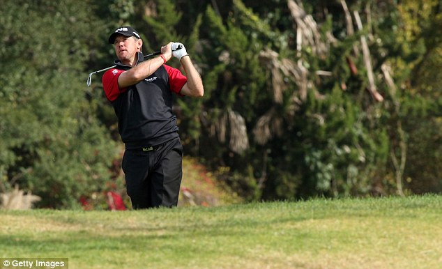 On the cusp: Lee Westwood is the closest Brit in action and is six shots back