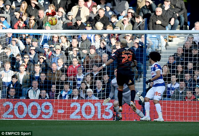 First blood: Reading midfielder Daniel Williams (L) headed in the opening goal from an Adam Le Fondre cross