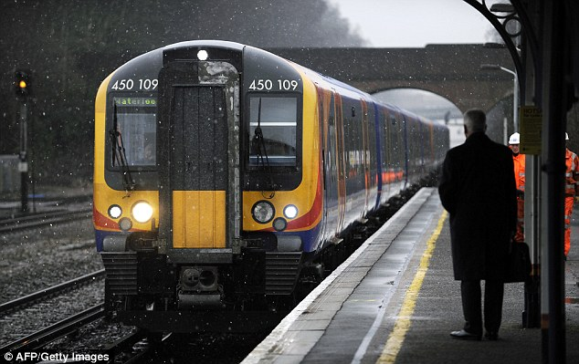 Poor: South West Trains only recorded a 45 per cent satisfaction rate
